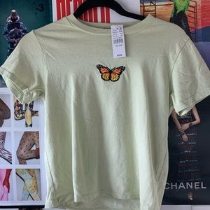 Brandy Melville Butterfly Top